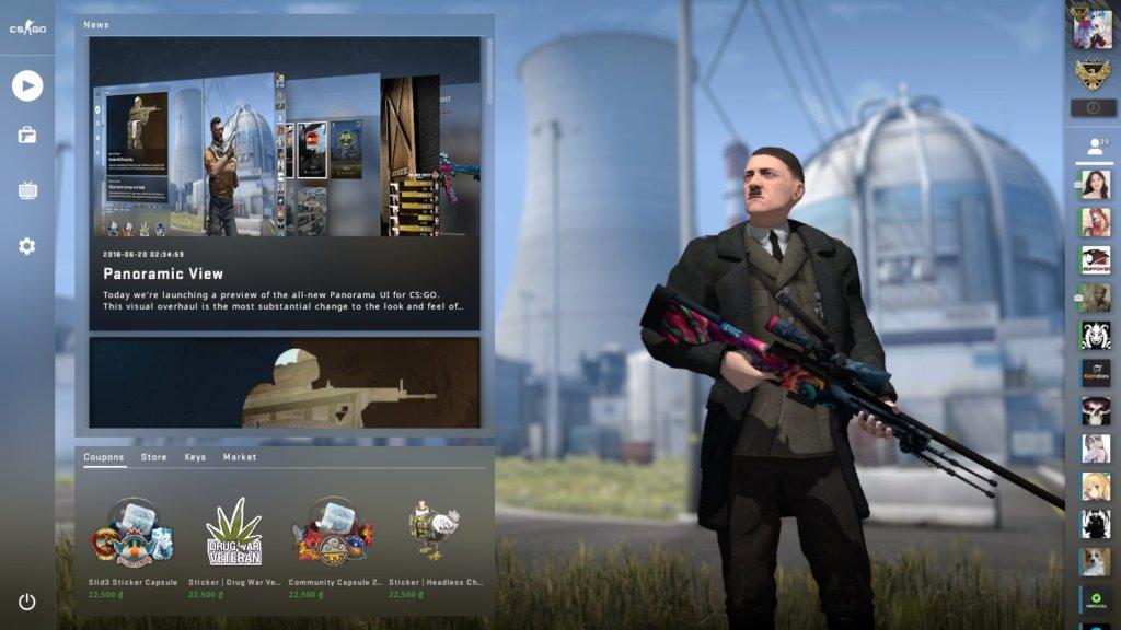 Как изменить персонажа в CS:GO в Panorama UI