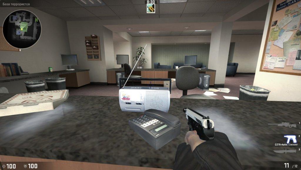 Карта Office пасхалки
