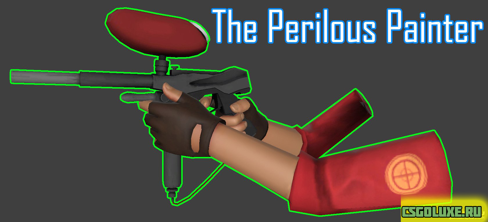 Модель MP7 The Perilous Painter для CS GO