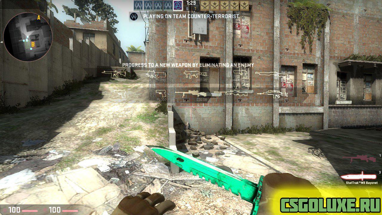 Модель ножа M9 Bayonet для CS GO