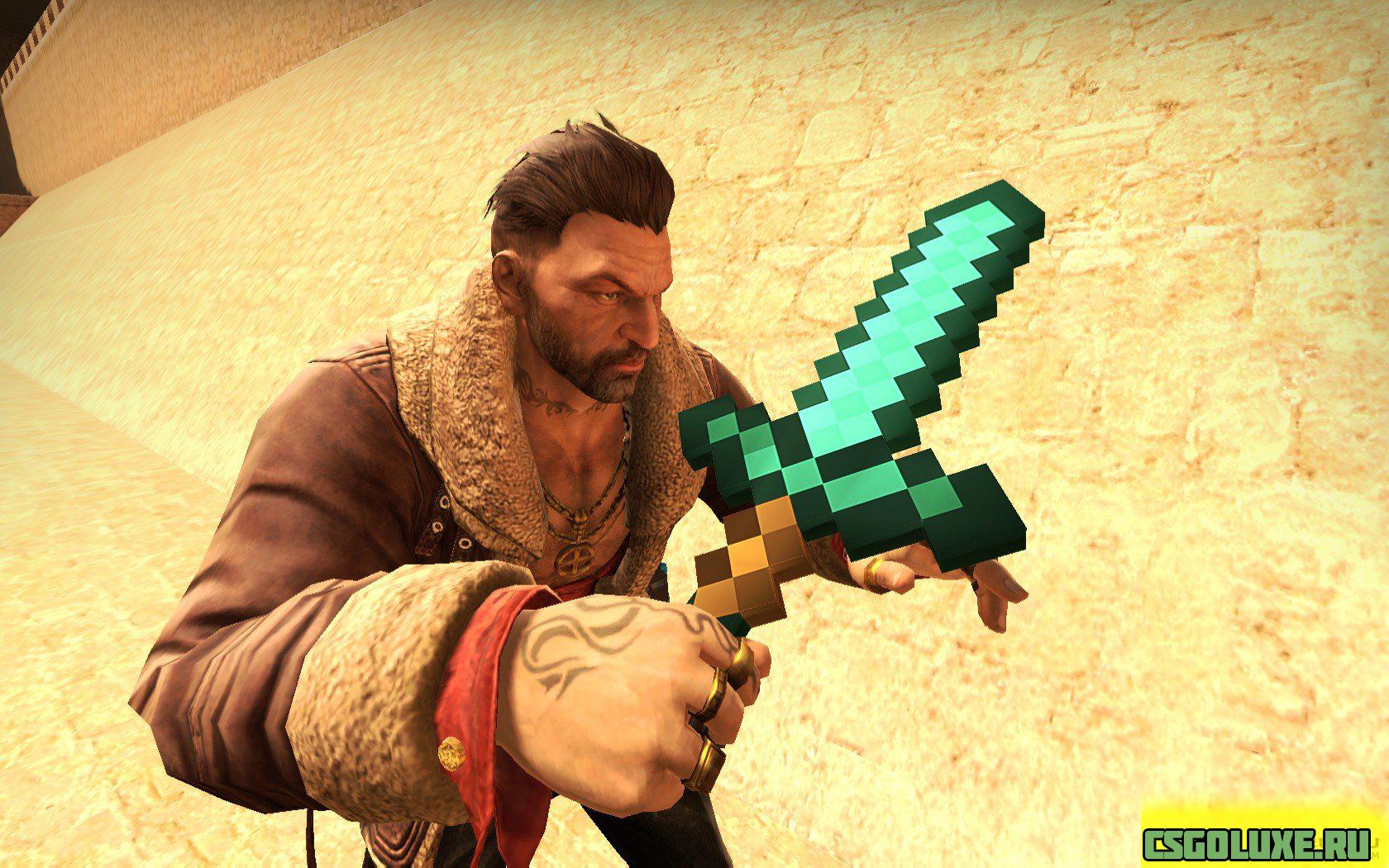 Модели оружий Minecraft для CS GO