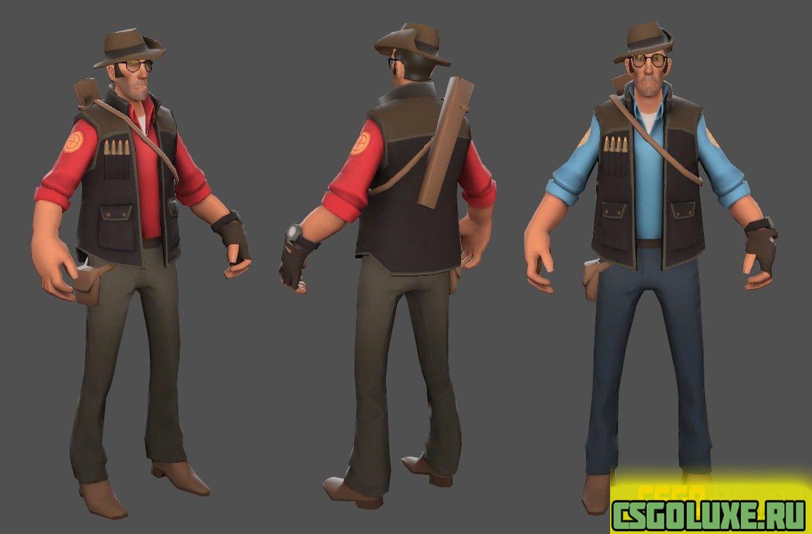 Модель игрока CS GO из Team Fortress 2