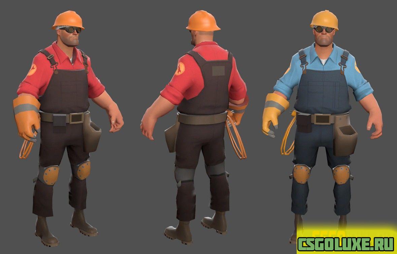 Модель для CS GO – Инженер(Engineer) из Team Fortress 2