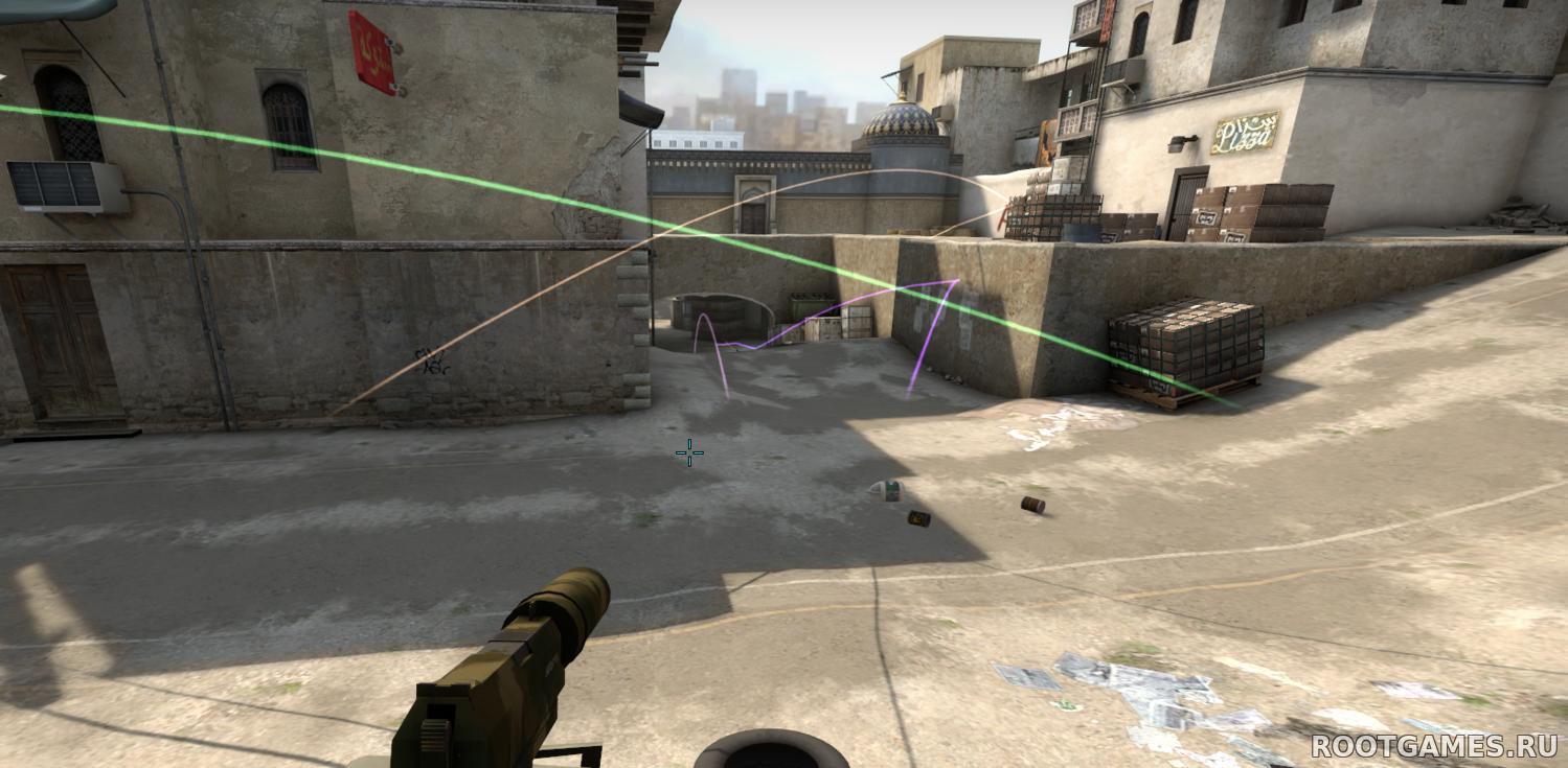 Плагин Следы от гранат / Grenade Trails в CS GO