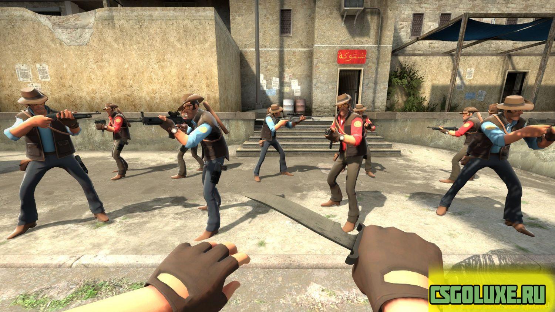 Модель игрока CS GO – Sniper из Team Fortress 2