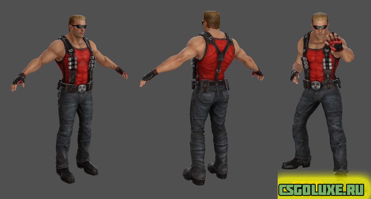 Модель игрока Duke Nukem для CS GO