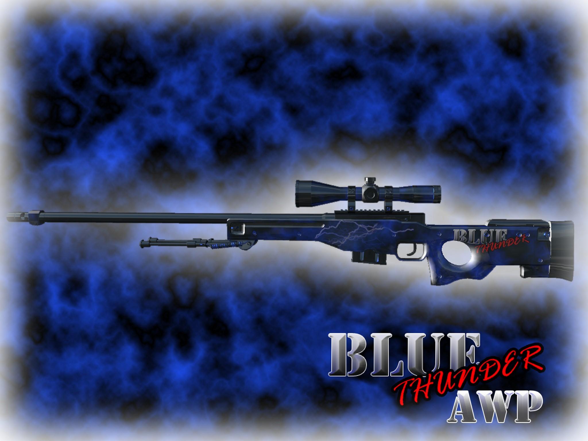 Модель оружия AWP BlueThunder для CS GO