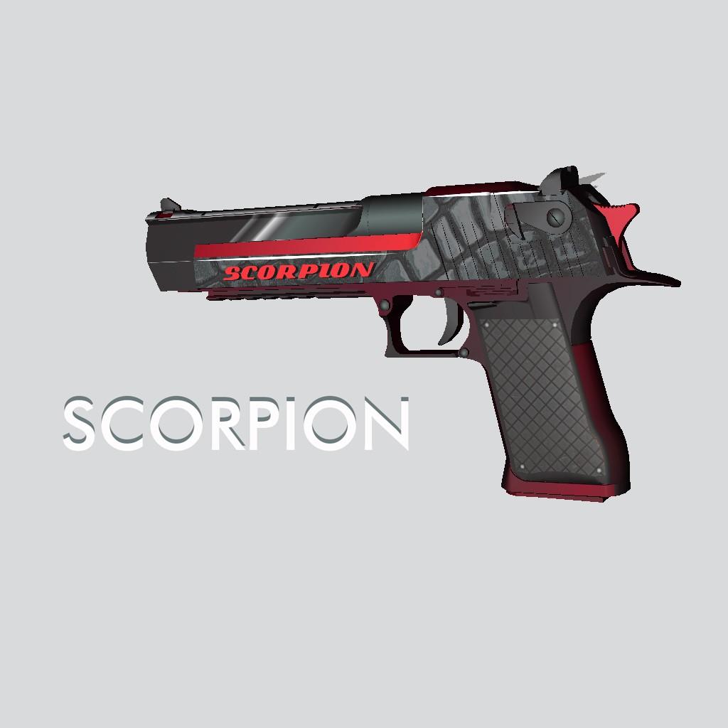 Модель DEAGLE Скорпион для CS GO