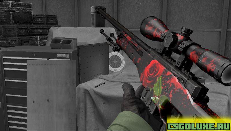 Модель AWP Bloody Rose для CS GO