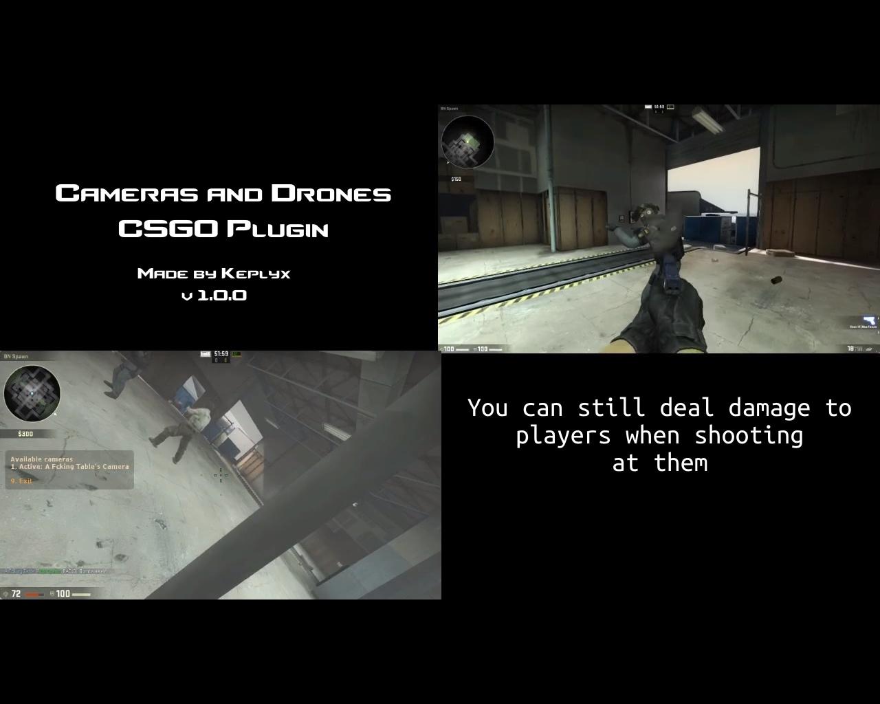 Плагин Cameras And Drones для CS GO
