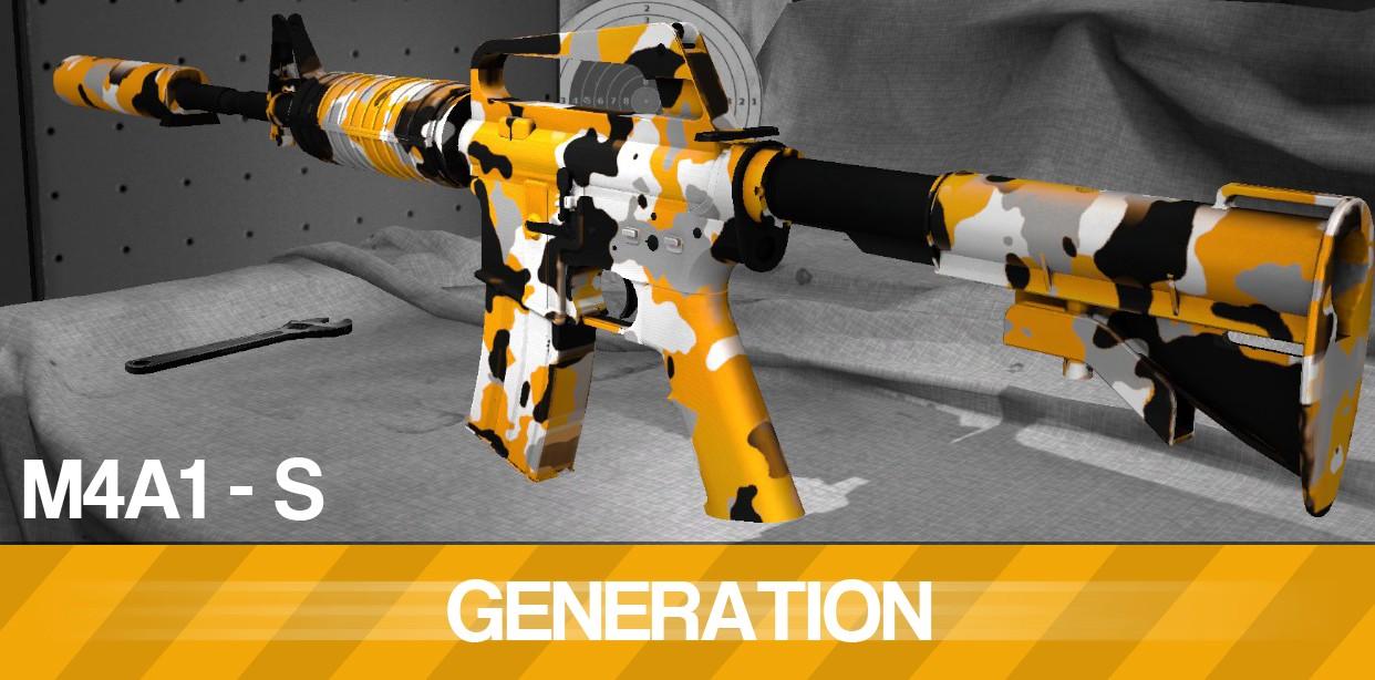 Модель M4A1-S GENERATION для CS GO