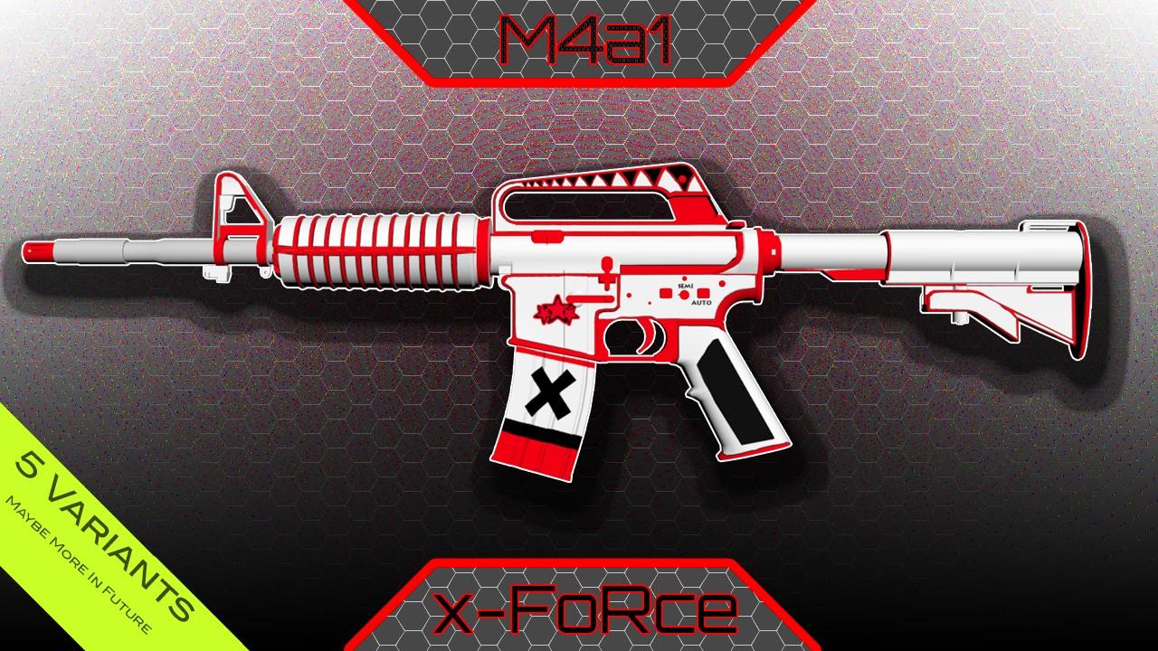 Модель M4A1-S X-FORCE ДЛЯ CS GO