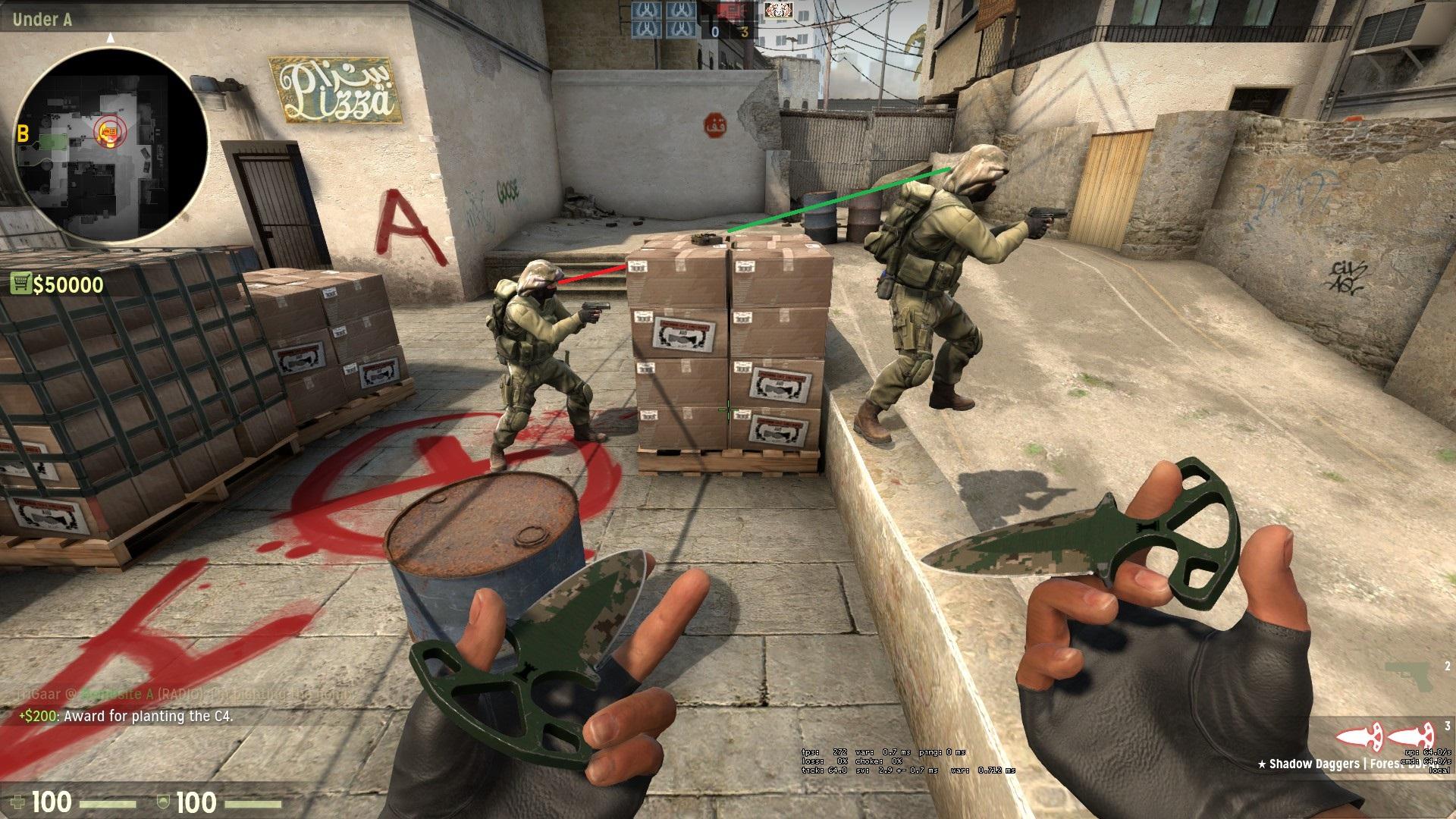 Как ставить бомбу на карте даст