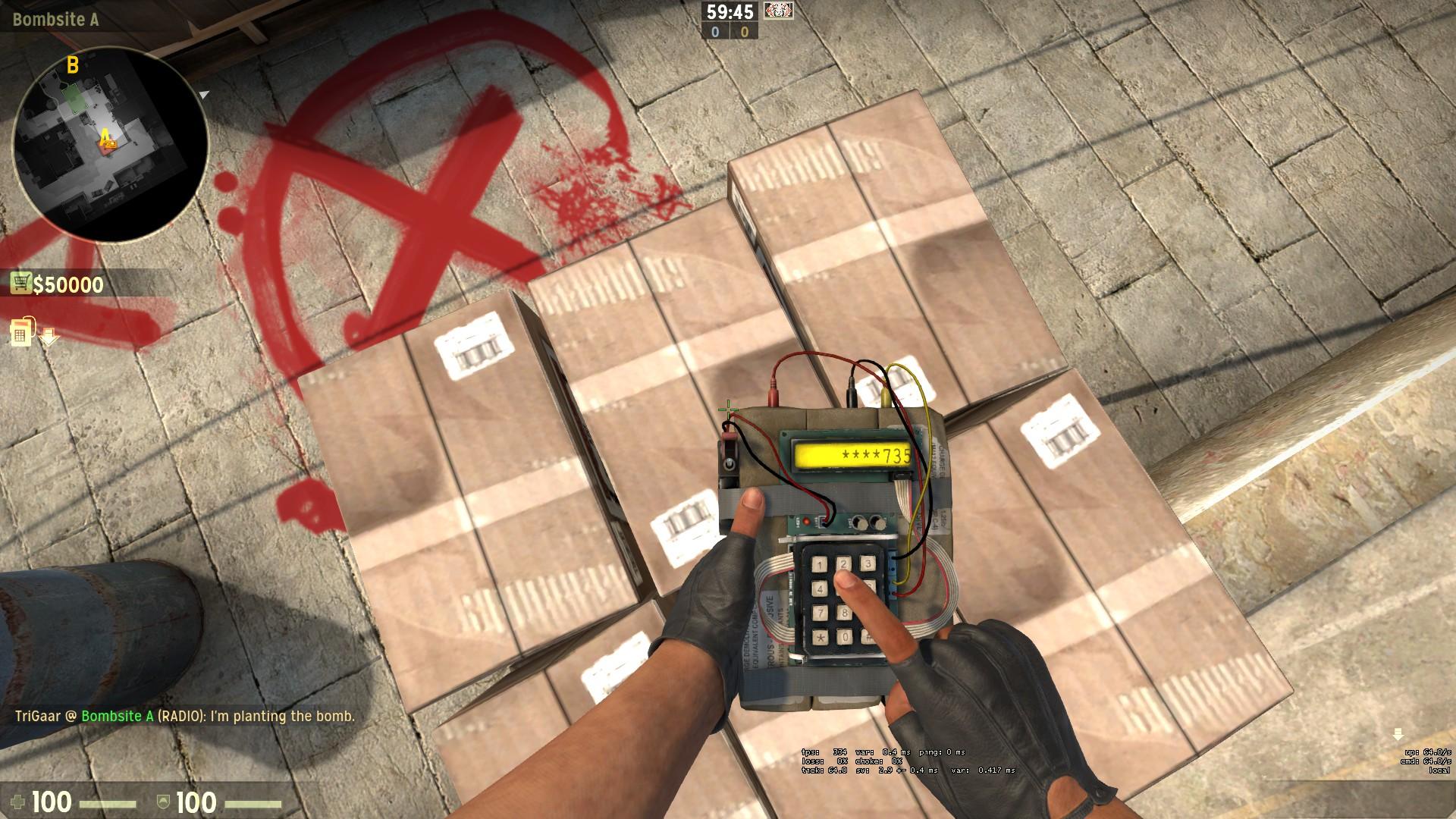 Как ставить бомбу в cs go