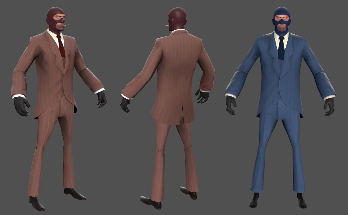 Модель Spy из Team Fortress 2 для CS GO