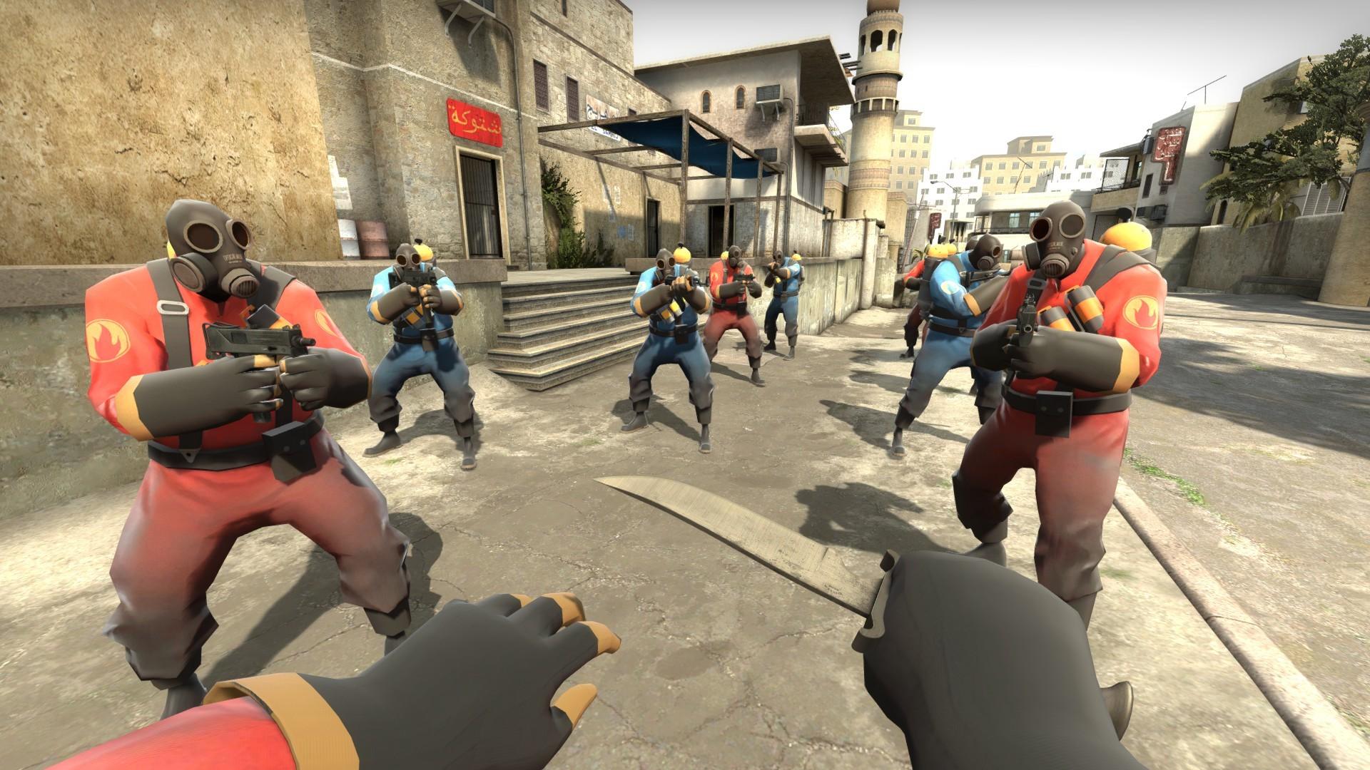 Модель Pyro из Team Fortress 2 для CS GO