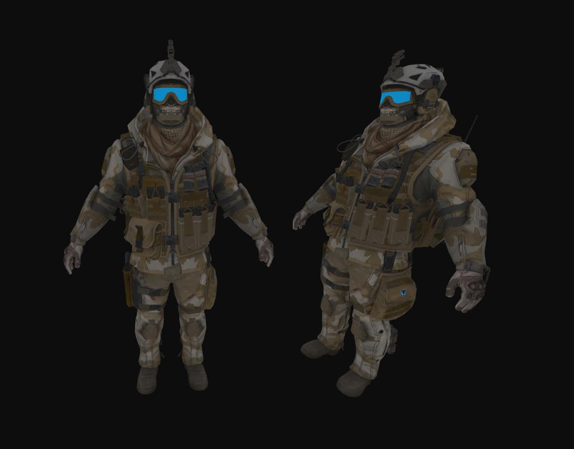 Модель игрока из Warface для CS:GO