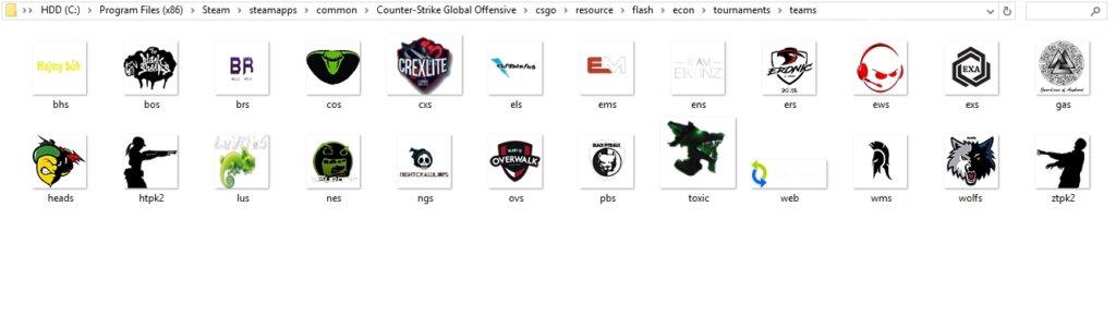 установка логотипов в CS GO