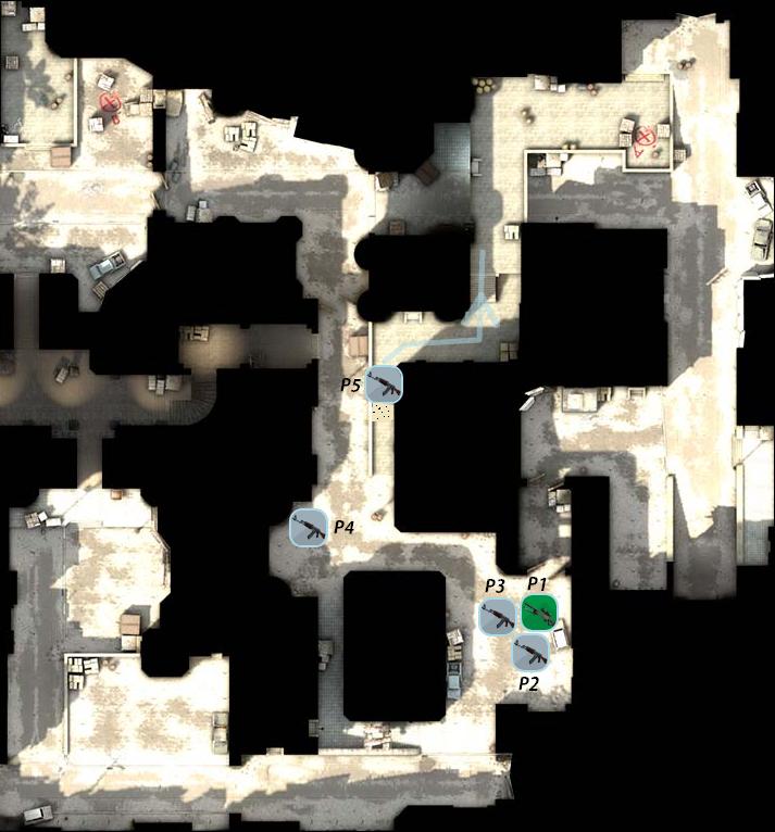 тактика на карте даст 2 в cs go