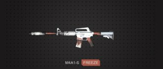 Модель M4A1-S Freeze CS GO