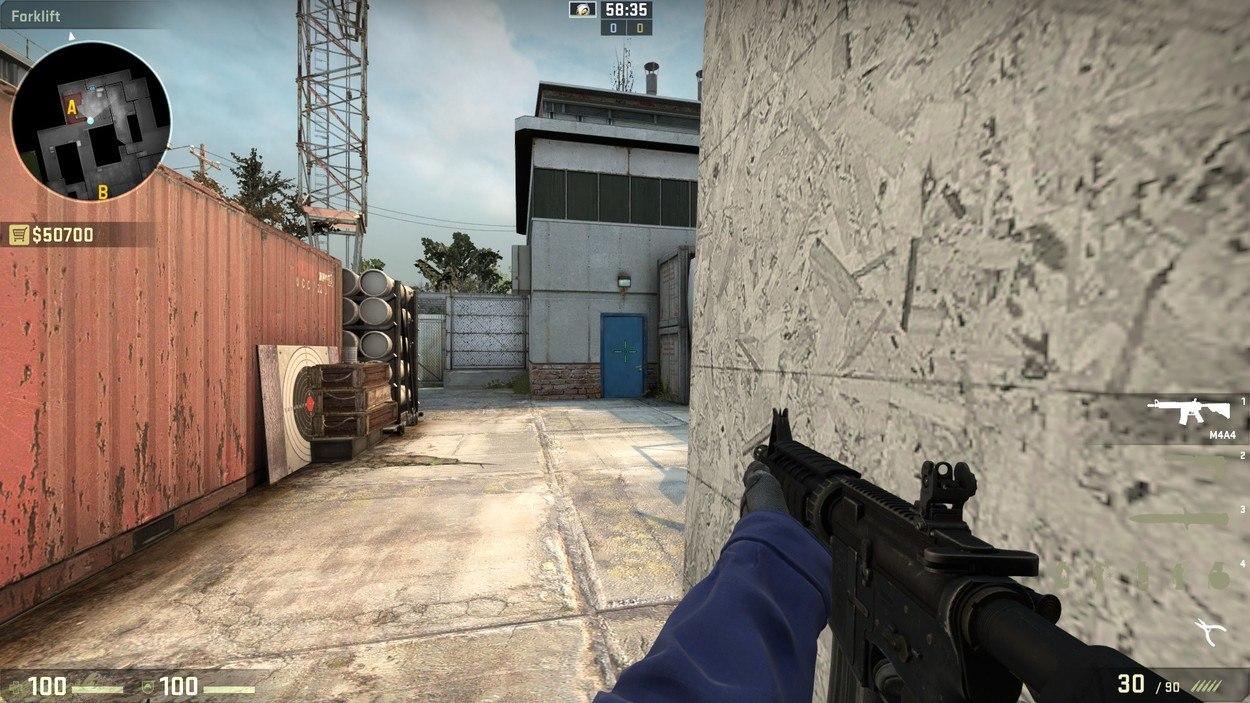 Прострелы на карте cache CS:GO