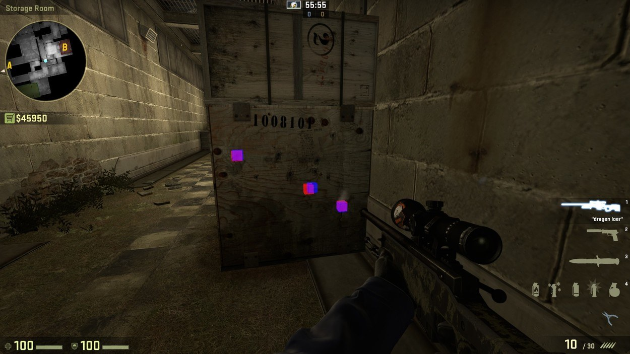 прострелы на cache