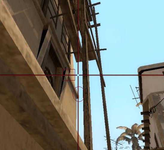 раскидки на карте Mirage