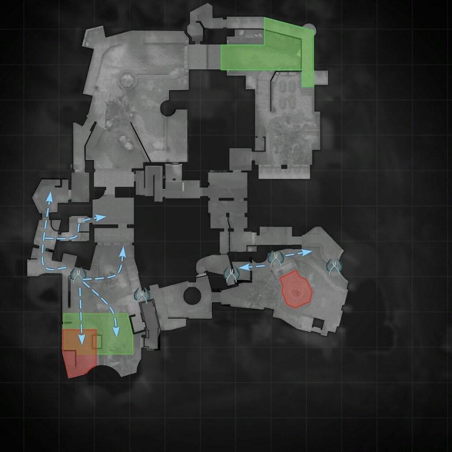 Тактики на карте кобблстоун в cs go за кт