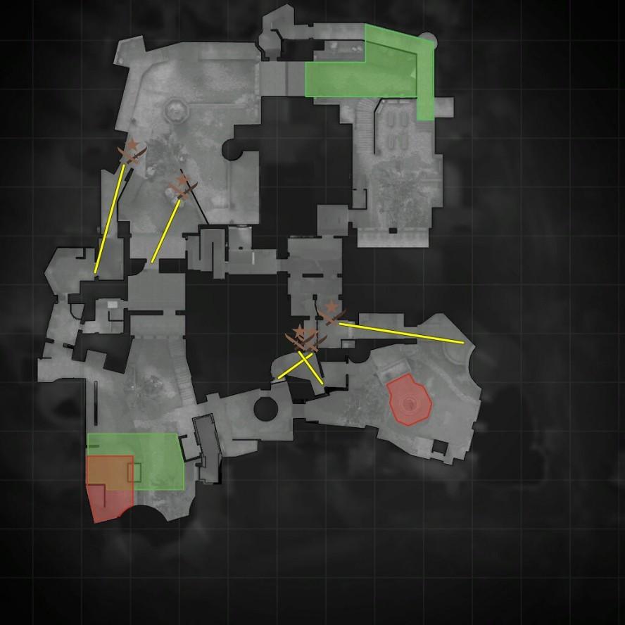 Тактики на карте кобблстоун