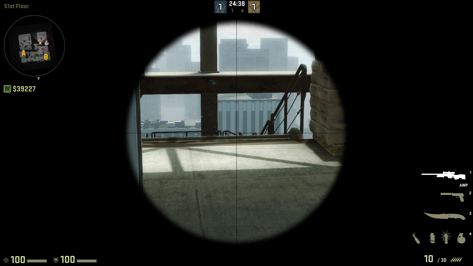 Раскидка гранат и тактика на Vertigo в CS GO