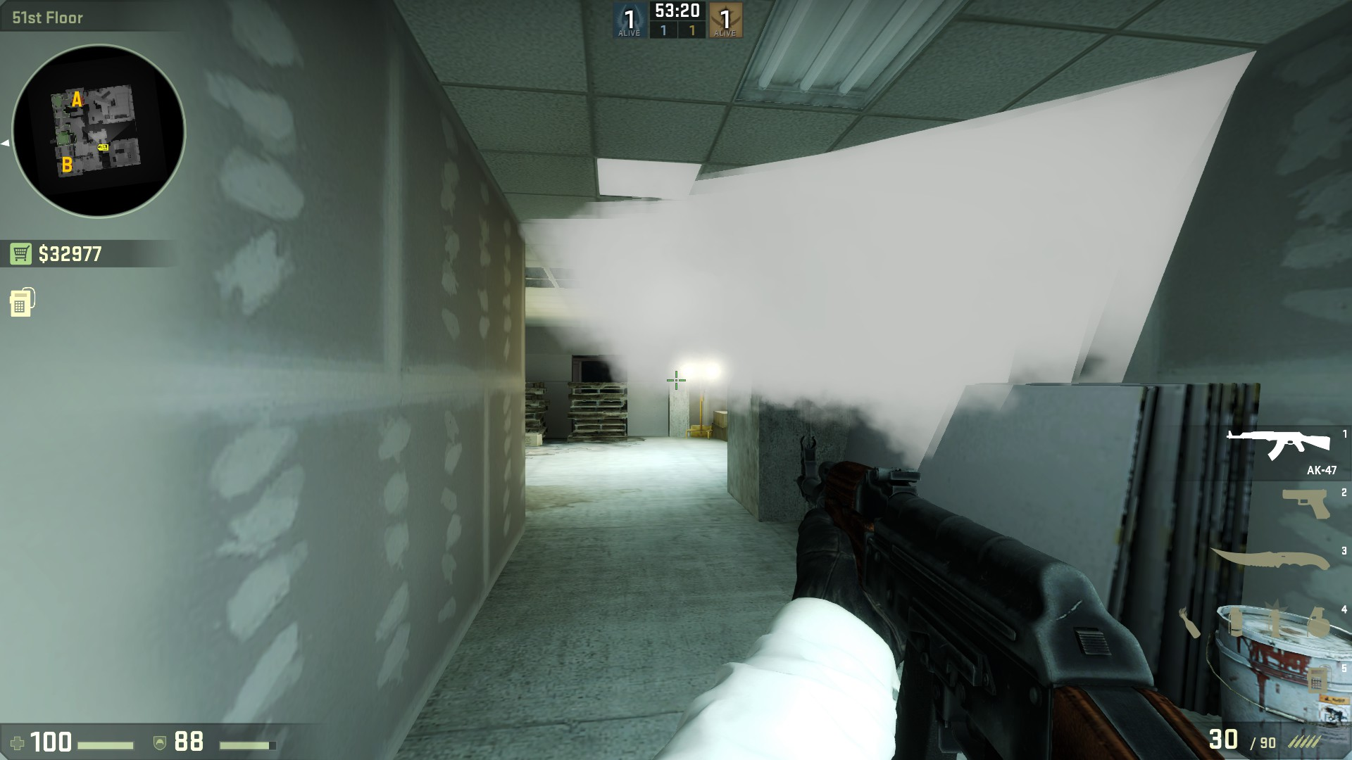 Раскидка гранат на Vertigo в cs go