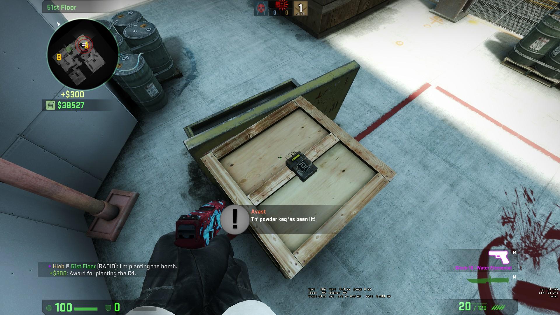 Раскидка гранат на вертиго в cs:go