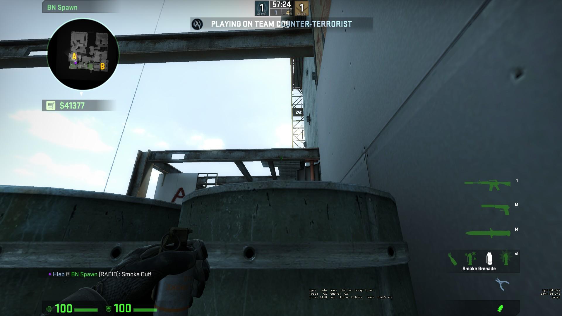 Раскидка гранат и тактика на Vertigo в CS:GO