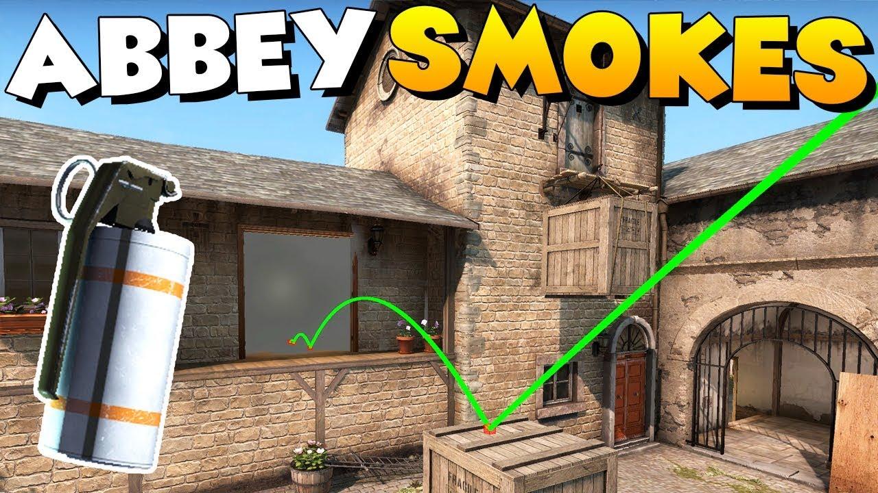 Раскидка гранат на карте Abbey в CS GO
