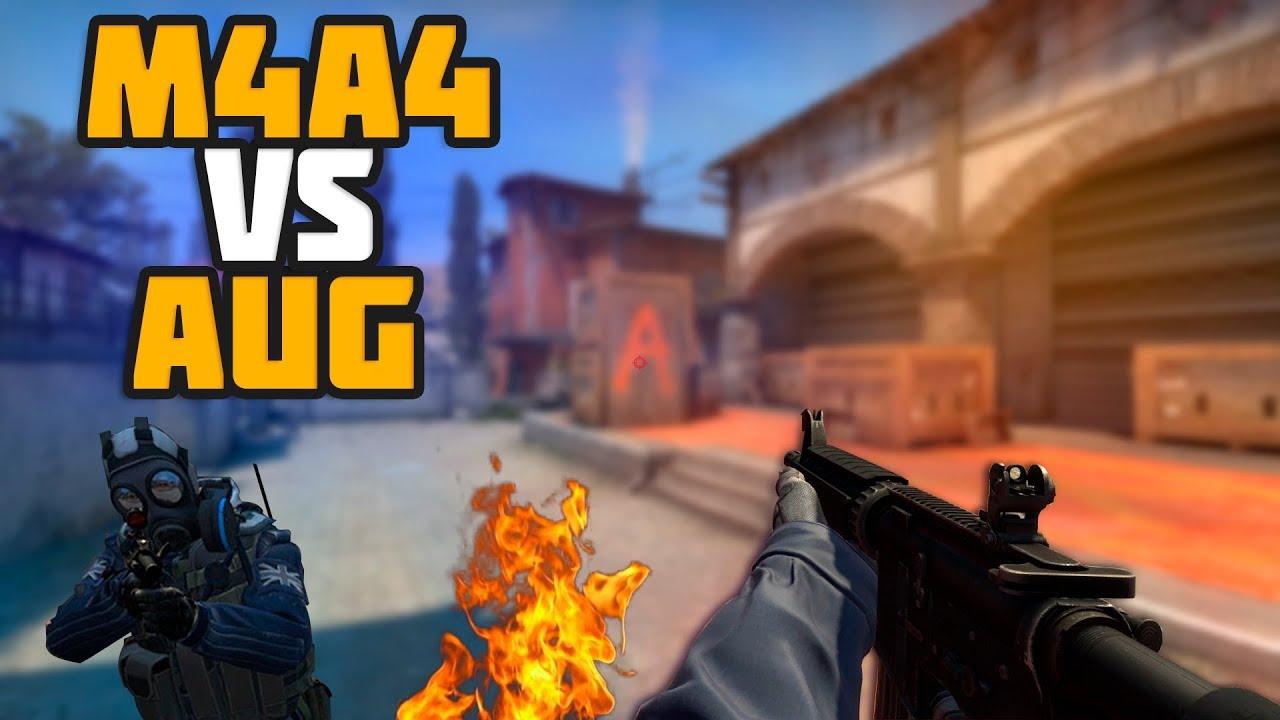 Сравнение M4A4 или AUG, что выбрать М4А4 или АУГ CS GO