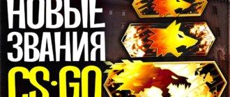 Все звания в Danger Zone в CS GO, новые звания в кс го