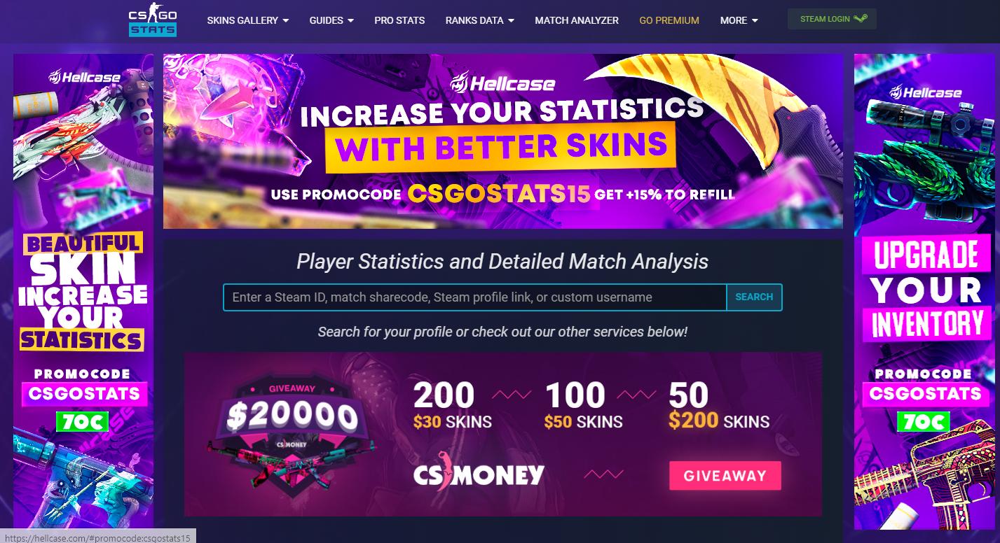 где узнать статистику в cs go
