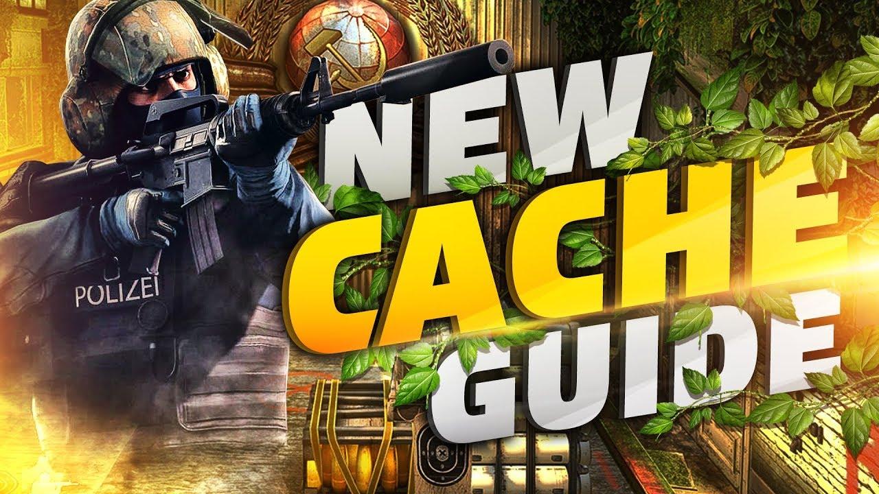 Раскидка гранат на обновленной карте Cache в CS GO