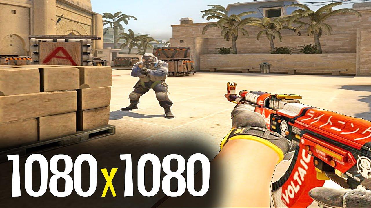 Как поставить 1080x1080 в CS GO